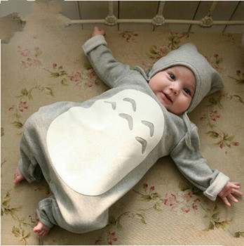 Baby clothing set Gray Cotton Long Sleeve Newborn Baby Boy Girl Rompers newborn clothes Spring Summer infant suit