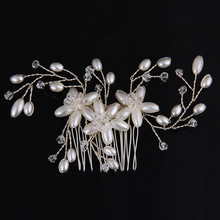 2016 Wedding Hair Accessories Crystal Hair Combs Pearl Jewelry New Head Jewelry Tiaras Hair Clips For Women Best Combs For Hair