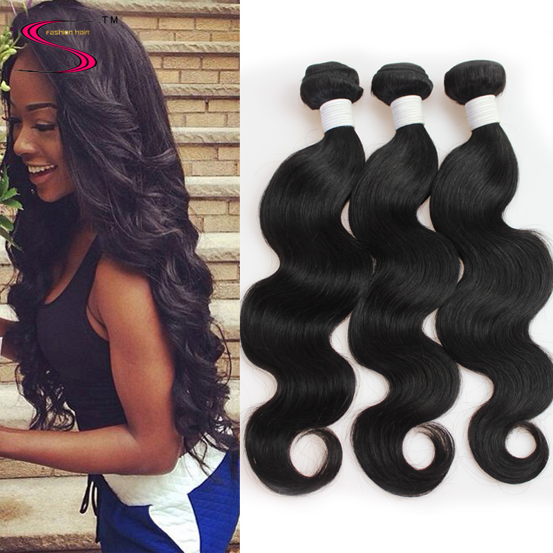 6A Brazilian virgin hair body wave 4pcs Brazilian Body Wave 100% Unprocessed Human Virgin Hair Weave Bundles Hair Extension
