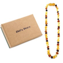 Amber Teething Necklace for Baby (Multicolor) - 3 Sizes - Natural Stone Diy Beads Necklace - Baby Accessories(China (Mainland))
