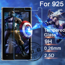 0.3mm 9H Explosion Proof Anti scratch Tempered Glass Film For Nokia Lumia 925 N925 Screen Protector Film + cloth
