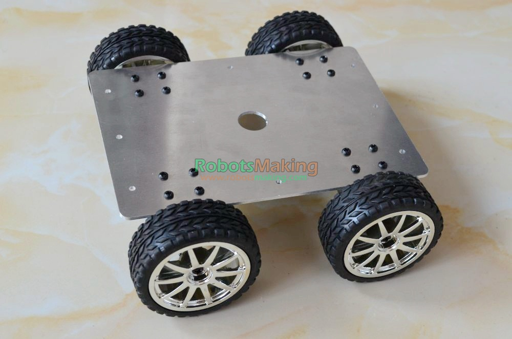 Фотография DIY 159 Smart Aluminum Alloy Car Vehicle Chassis 25 type all-wheel-drive Robot car Chassis 4 Drive 4 WD