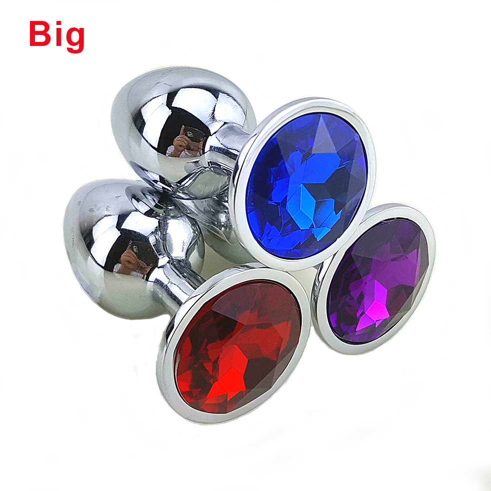 80 * 34 Medium Metal Anal Sex Toys For Woman & Man, Stainless Steel Enticing Jewelry Butt Plug. Large Ass Beads Products AS024M
