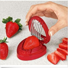 1PCS HOT Strawberry Slicer Desserts Stainless Steel Blade Simply kitchen Slice Cut Knife Kitchen accessories cooking tools