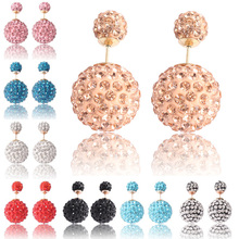 Brand Bijoux Wholesale Free Shipping Hot Selling Fashion Christmas wedding Channel New Big Double Pearl Earrings For Women 2014