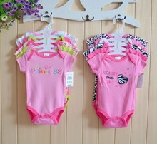 5pcs/lot Carters Baby Boy Girl Rompers 2015 Summer Fashion Baby Jumpsuit Cotton Baby Rompers Baby Clothing(China (Mainland))