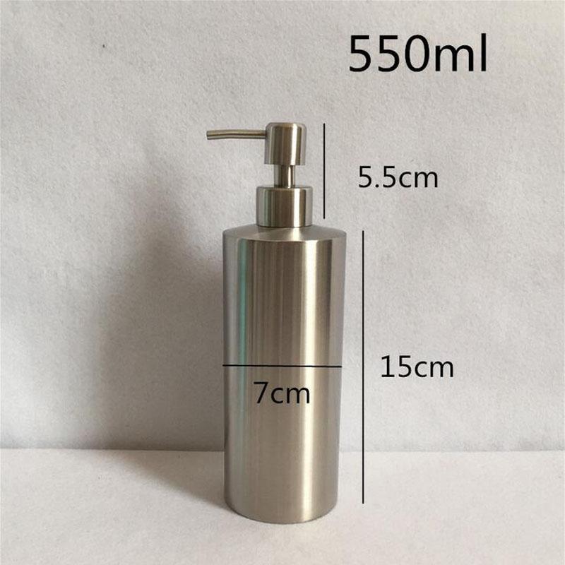 1Pc Bathroom 250ml 350ml 550ml Lotion Pump Bottle Multi-purpose Stainless Steel Liquid Soap Dispenser Sink Detergent Accessories(China (Mainland))