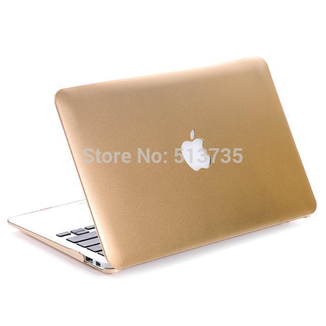 gold laptop case protective for mac air book/computer accessories for mackbook pro Case retina 11 13 15 notebook +keyboard cover(China (Mainland))