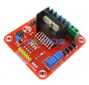 Wholesale L298N  Dual Bridge DC stepper Controller Control Motor Driver Module Board,Free Shipping