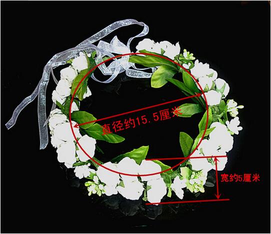 floral wrist flower girl garland garlands crown of flowers for hair wreath garland headband accessories headpieces