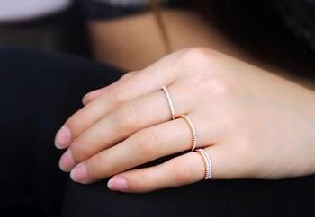 Silver Rhinestone Diamond Ring