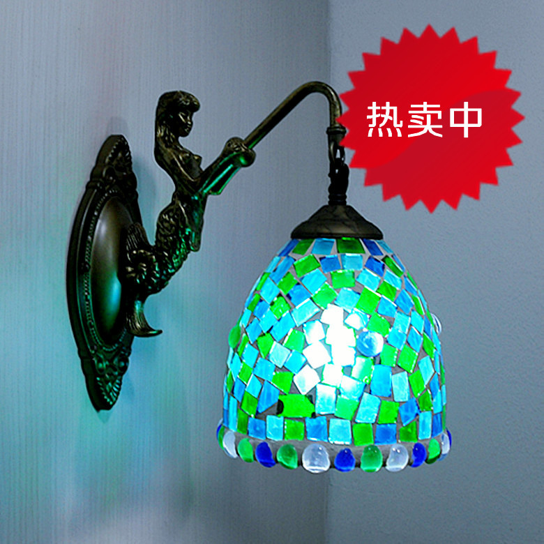 Mosaic wall lamp merlons bedroom bedside lamp mirror light the new age of lamps(China (Mainland))