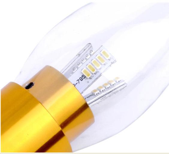 FREE SHIPPING 1pcs/lot Promotion LED Candle Light Bulbs 220 240 Volt 3 Watt candle lamp in E14 base(China (Mainland))