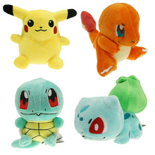 4pcs/lot Pokemon Plush Toys 15cm Size Go Pikachu & Bulbasaur & Squirtle & Charmander Gift Plush Toys()
