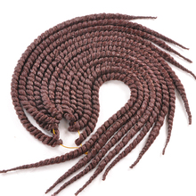 22″12strands two tone crochet braid hair hand-woven afro twist braid Synthetic ombre Kanekalon Kinky Marley Twists braiding Hair