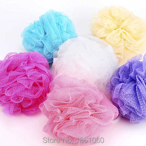 Bath Ball Lily Shower Body Exfoliate Puff Sponge Scrub Mesh Net Wash 7 Colors(China (Mainland))
