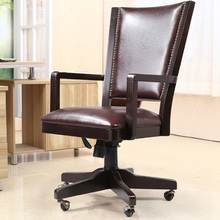 Luxury Leather Computer Chair Luxury Boss Office Chair Solid Wood Swivel Chair(China (Mainland))