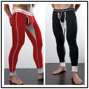 Мужской пояс теплые брюки горячие формочек мужчины лонг джонс профилировщик тела брюки мужские костюм тела теплые кальсоны