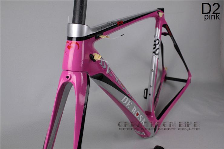 NEW color carbon frame De Rosa Superking888 D2 pink frame carbon road carbon road bikes full suspension mountain bike time trial(China (Mainland))