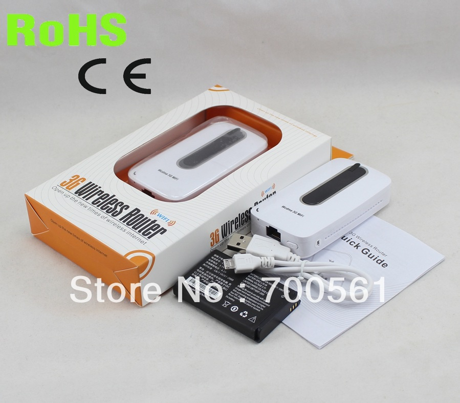 free shipping! 3G 4G Router wIth SIM Slot Unlocked 3000mAh Power Bank PK Huawei E5331<br><br>Aliexpress