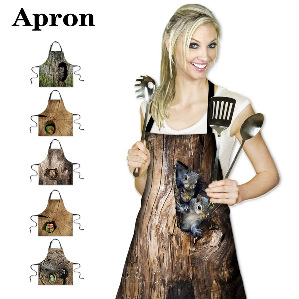 new personalized animals aprons designer kitchen aprons