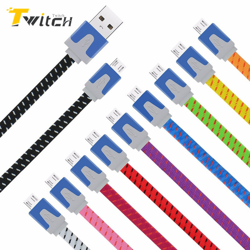 Micro USB Cable Fast Charger Cable Metal Plug Nylon Braided Cable Wire for Xiaomi Samsung Huawei HTC LG Cell Phone Tablet PC(China (Mainland))