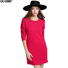 Spring Dress 2016 New Fashion Diamonds Extra-thick Slim Casual Dress Long Sleeve O-neck Plus Size Women Dress Vestidos XL-5XL(China (Mainland))