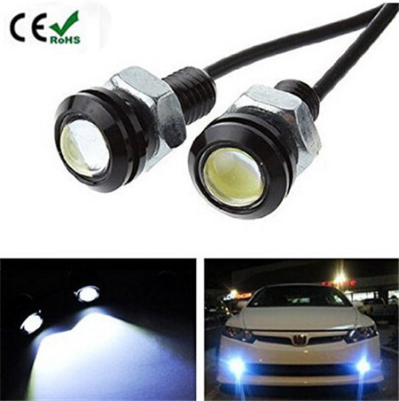 10pcs/lot 1.8CM 9W 12V Car LED Eagle Eye Bumper DRL Fog Light lamp Daytime Running light Tail Light Backup Lamp free shipping(China (Mainland))