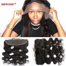 Virgin Brazilian Lace Frontal closure Bleach Knot Frontal cheap Body Wave Full Lace ear to ear closure 13 x4 Free Ship(China (Mainland))