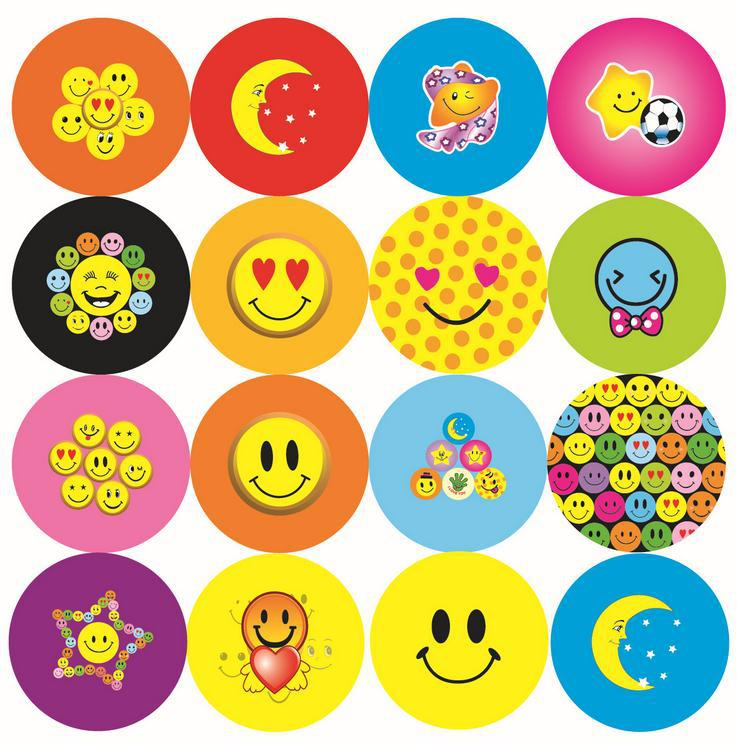 Hot DHL Cartoon Lovely Promotion Smile Face Pin Badge Button Badge Brooch Badge for kids 1000pcs 4.4cm(China (Mainland))