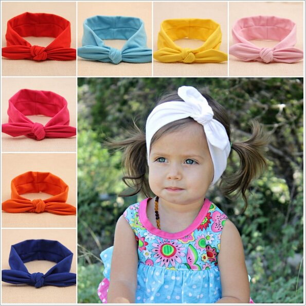 newborn baby girls knot headband elastic hair head bands wraps rabbit ears headbands turbante children accessories headwrap new(China (Mainland))