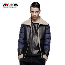 VIISHOW Brand 2016 New Arrival Men Winter Jackets Coat Warm Overcoat splicing design down cotton padded jacket men SIZE S-5XL(China (Mainland))