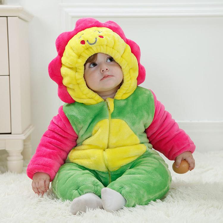 Скидки на Creative 3D комикс младенцы одежда один частей детские комбинезоны костюм фланель