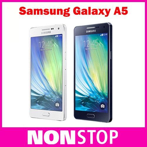 Original Unlocked Samsung Galaxy A5 A5000 Cell Phones LTE 16GB Dual Sim 5.0 Inch Quad Core 13 MP Camera(China (Mainland))