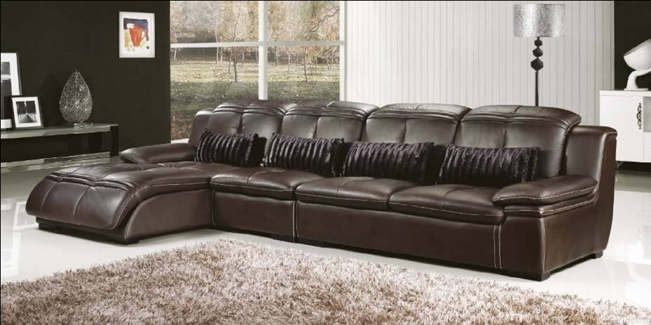 Thick Leather Sofa : ... leather furniture E312-in Living Room Sofas from Furniture on