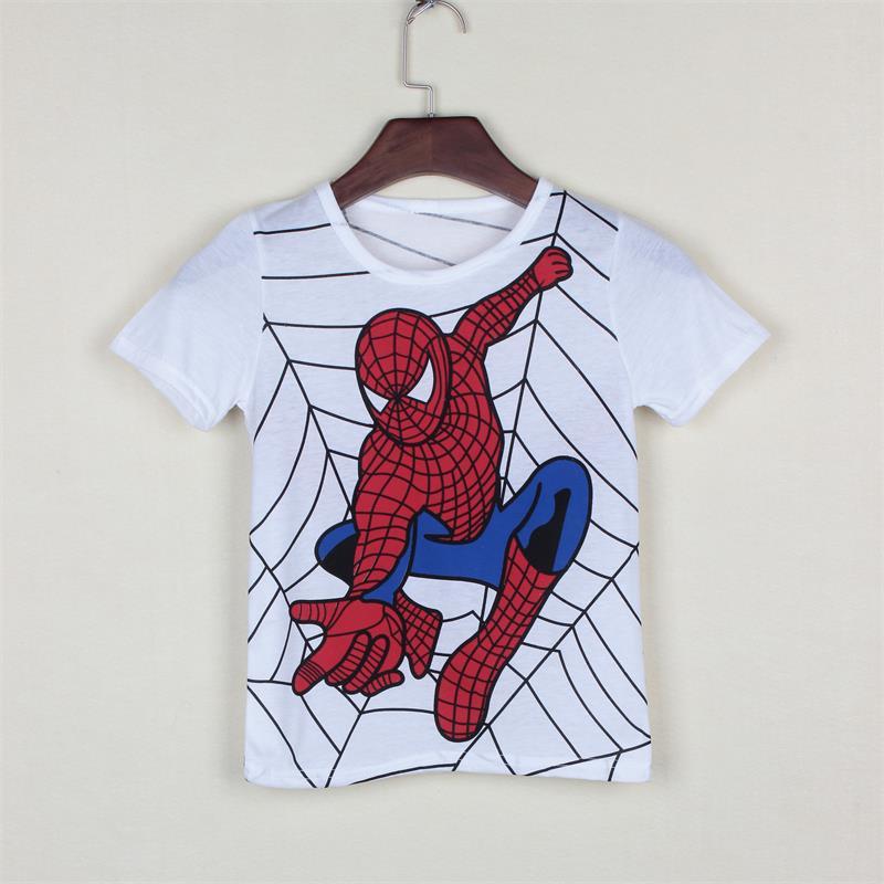New 2017 boy's t shirt popular hero cotton short-sleeved t-shirt printing children's cartoon gray kids boys child's clothes(China (Mainland))