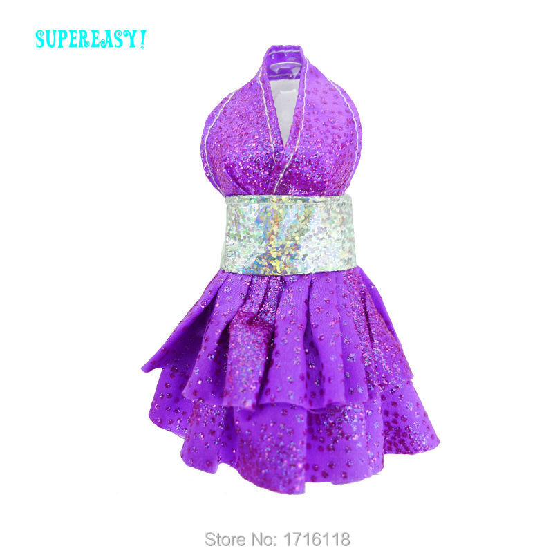 Trend Handmade Mini Gown Dinner Get together Cute Outfit Robe Purple Shade Garments For Barbie Doll 11.5″ 12″ Puppet Youngsters Toys Reward