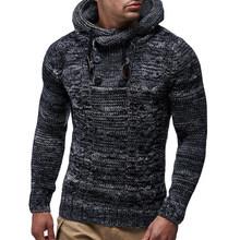 AKSR Зима утолщаются теплый с капюшоном хлопковый свитер для мужчин длинными рукавами водолазка пуловеры для женщин Slim Fit Мужской СВИТ(China)