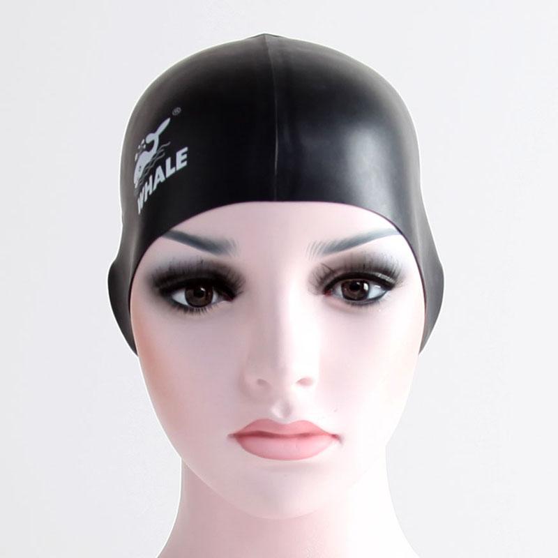 2016 New Solid Swimming Caps Men Whale Brand 100% Silicone Swimming Hats Women Waterproof Adults Swim Caps Big Elastic Swim Hats(China (Mainland))