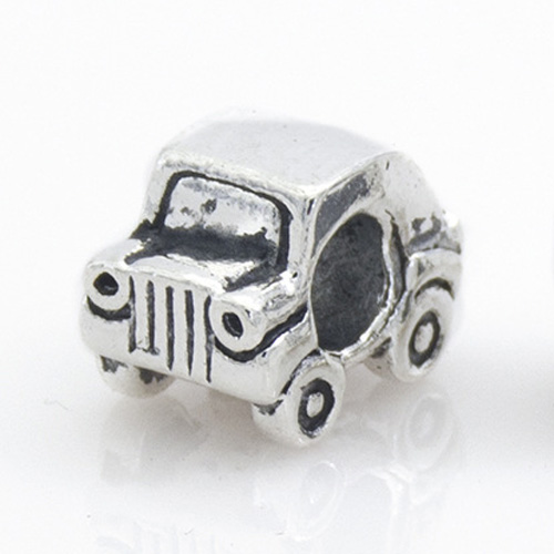 New Silver Plated Bead Charm European Vintage Cute Car Beads Fit Women Pandora Bracelet Bangle DIY Jewelry HKA0124(China (Mainland))