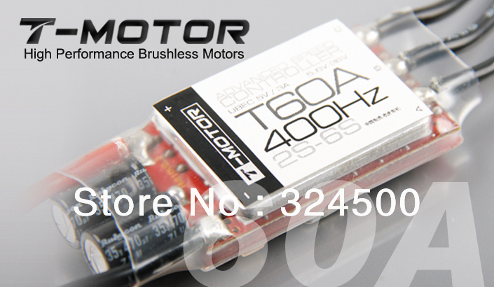 T-MOTOR High performance Brushless Motors 60A ESC 400Hz 2S-6S ADVANCE SPEED CONTROLLER UBEC 5V / 3A Brushed For RC Airplanes BEC(China (Mainland))