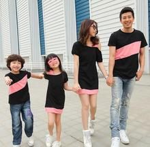 Casual Family Clothing Special Shoulder Dresses for Mother and Daughter Family Clothing T-shirt for Father and Son, CP56(China (Mainland))