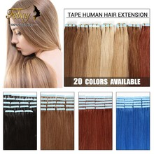 16inch-24inch Tape Human Hair Extension 20pcs/lot 100% Brazilian Virgin Hair Skin Weft Human Hair Extension 20colors to Choose(China (Mainland))