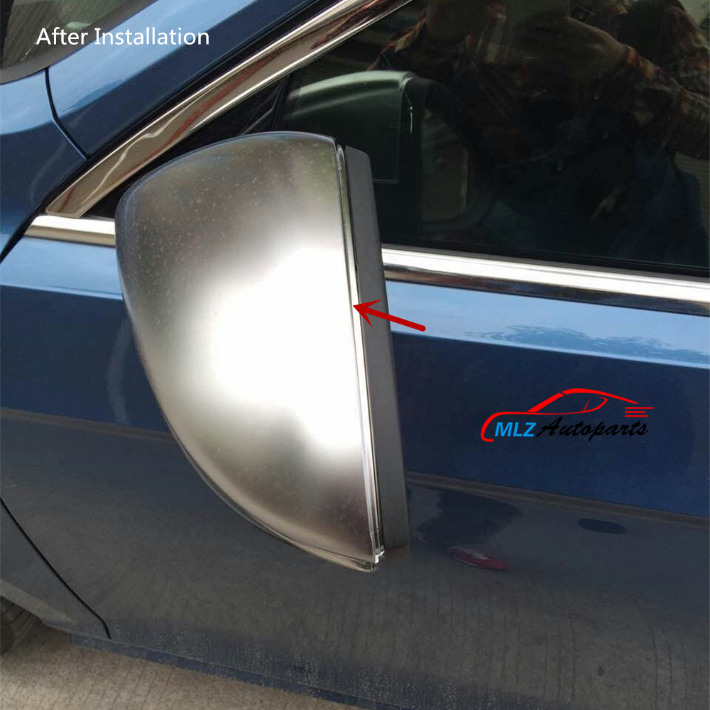 2P ABS Car Reaview Mirror Cover Chrome Rear view Side Shell Trim Matte Silver For Volkswagen VW GOLF 7 GTI R MK7 2013 2014 2015(China (Mainland))