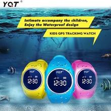 YQT Impermeable GPS Reloj Inteligente Para Los Niños Portátiles Inteligentes GPS/GSM/WIFI Posicionamiento SOS Alarma De Emergencia para el Cabrito niño