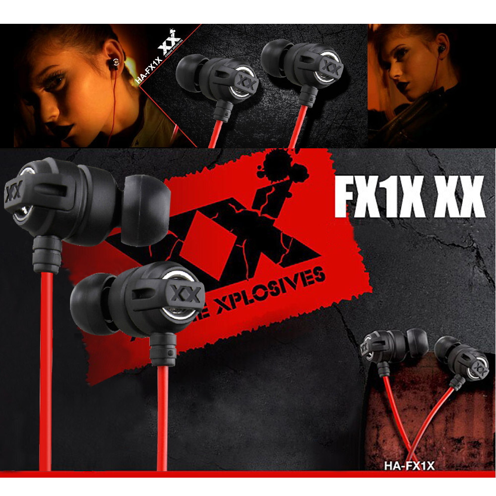 Headphones HA-FX1X Xtremed Xplosives Stereo In-Ear Earphone Deep Bass earphones for iPhone Samsung MP3 MP4 PC(China (Mainland))