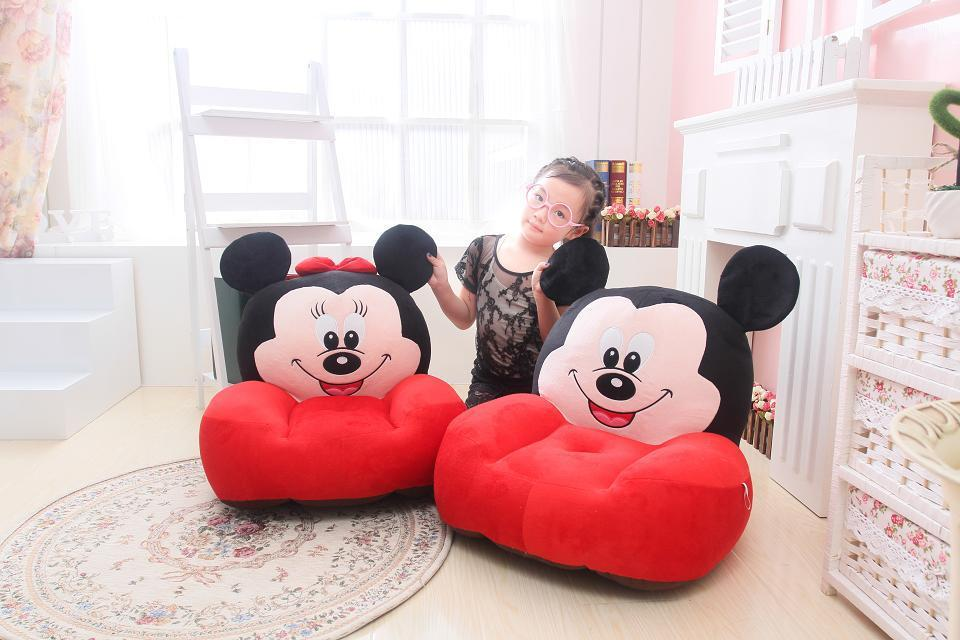 large about 54x45cm cartoon Mickey,Minnie mouse plush seat children's tatami plush toy sofa floor seat cushion w5287(China (Mainland))