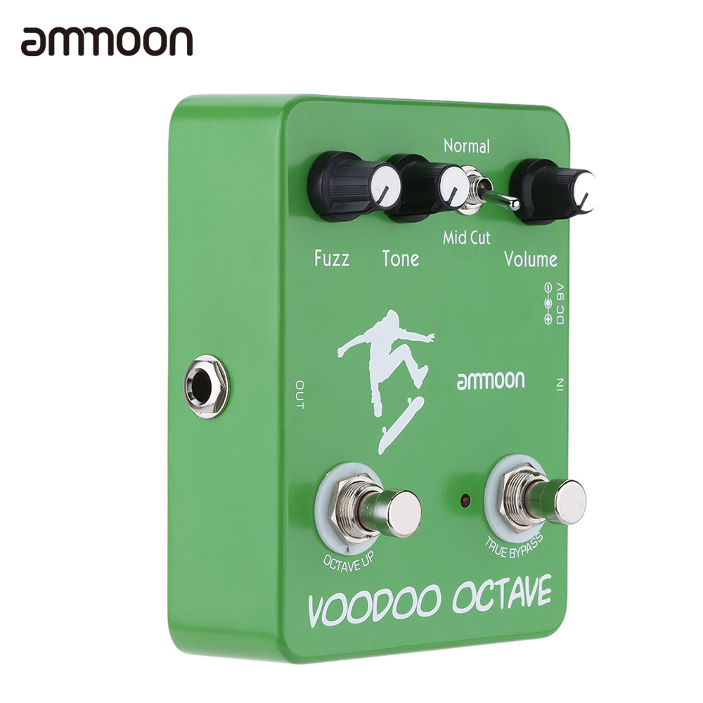 ammoon AP-12 Voodoo Octave Fuzz Effect Guitar Effect Pedal True Bypass High Quality Guitarra Effect Pedal(China (Mainland))