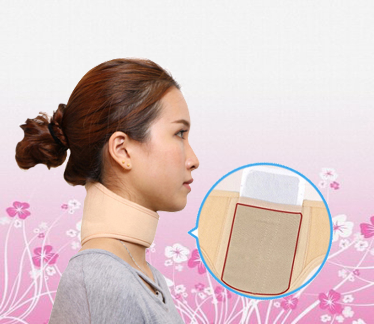 self-heating thermal magnetic therapy care cervical neck neckband heating pain unisex slim