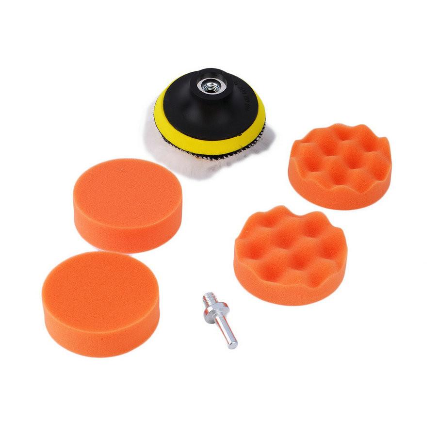 1 Set / 7Pcs 3 Inch Polishing Buffer Sponge Pad Set + Drill Adapter For Car Polisher Hot Selling Free Shipping #1(China (Mainland))